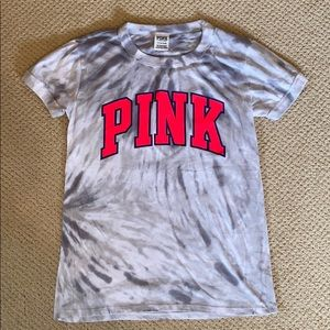 PINK Short Sleeve Tie Dye Shirt